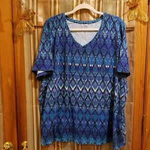 Blue Medallion Easy Fit Top